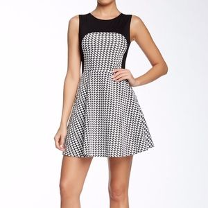 Love...Ady Checkered Fit & Flare Dress Sz S